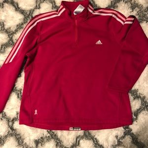 ADIDAS breast cancer 1/4 zip